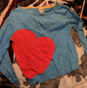 Mossimo Big Heart Sweater
